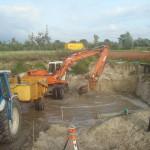 Aug 2014: voorbereidingen voor de bouw van de watermolen